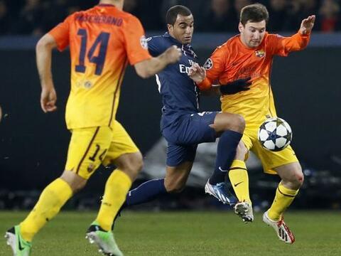 El París Saint Germain recibió al Barcelona en la ida de c...
