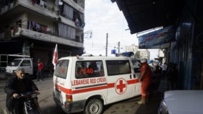 Voluntarios de la Cruz Roja en Siria.