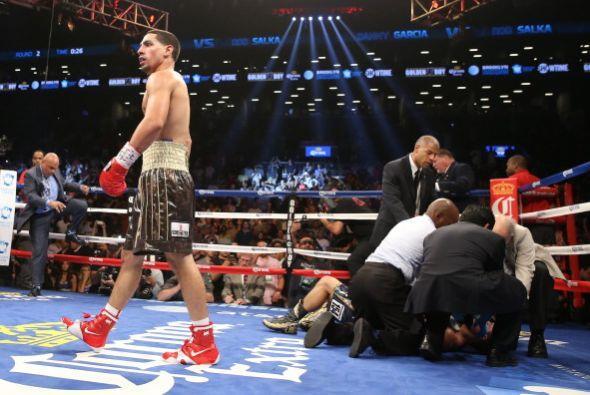 García se encontró a un rival débil y fácil lo eliminó.