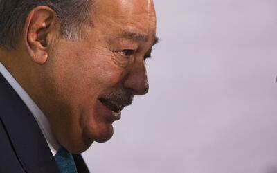 El empresario mexicano Carlos Slim en un evento de Palacio de Gobierno e...