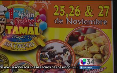 Comerciantes de Maywood piden cancelar el Festival del Tamal