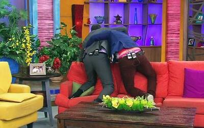 Alan y Paul cayeron al suelo por Alicia Machado