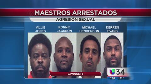 Cuatro maestros de Gwinnett acusados de agredir sexualmente a sus estudi...