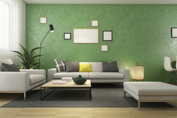 4) Una pared con personalidad. Si no te animas al color block total, haz...