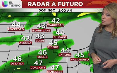 Olas de precipitación para este fin de semana en Chicago