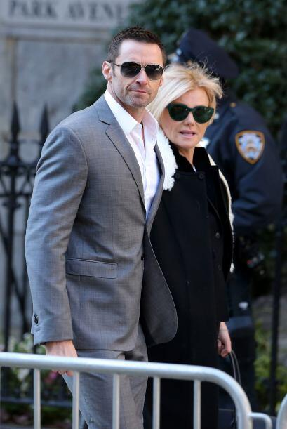 El actor Hugh Jackman junto a su esposa Deborah Furness.