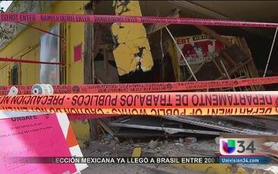 Pesado camión se estrelló contra tienda