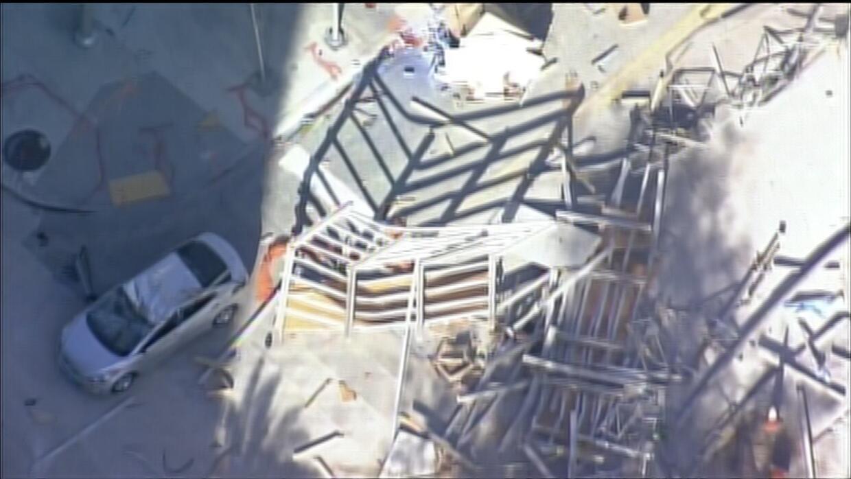 Colapsa parcialmente estructura en construcción en Brickell