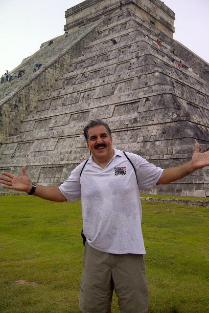 El Presidente visitó las ruinas de Chichén Itzá para cargarse de energía...