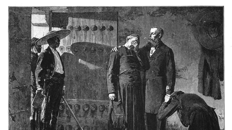 El emperador Maximiliano fue ejecutado en 1867. Este grabado de Jean-Pau...