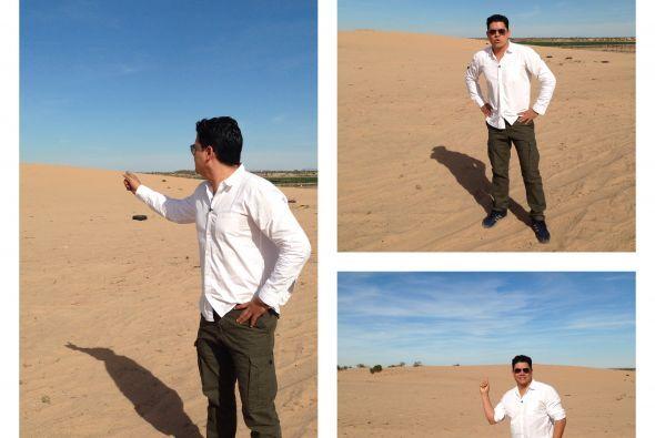 En pleno desierto de Arizona y con temperaturas extremas, Orlando caminó...