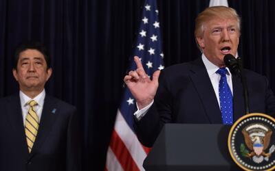 """Trump: """"EEUU apoya a Japón en un 100%"""" en rechazo a la prueba misilístic..."""
