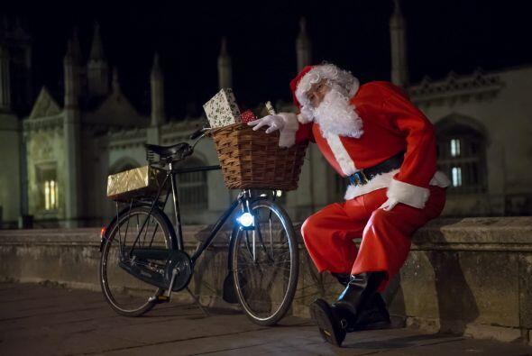 Santa en Bici