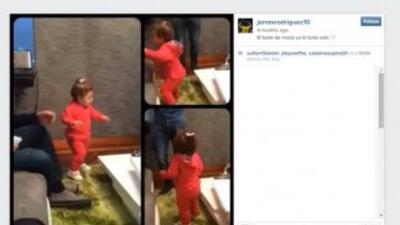 James Rodriguez baila con su hija. (Instagram)