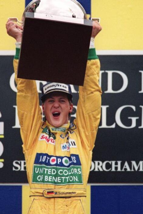 Su ídolo era Ayrton Senna Da Silva, el día de la muerte del piloto Brasi...
