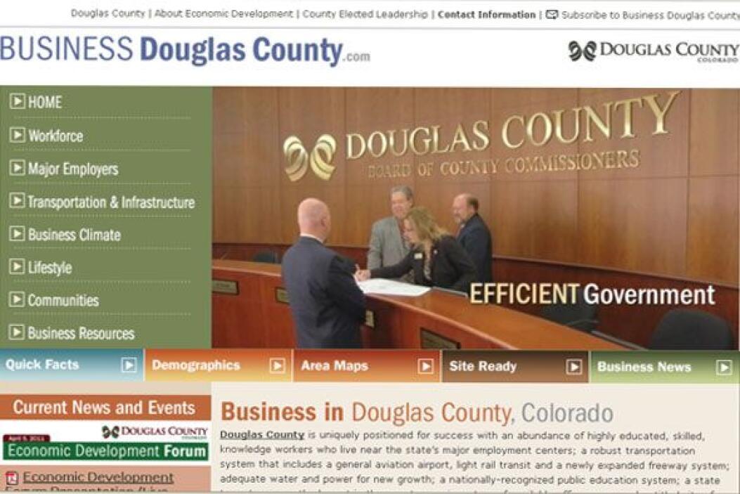 El condado de Douglas está situado entre Denver al norte y Colorado Spri...
