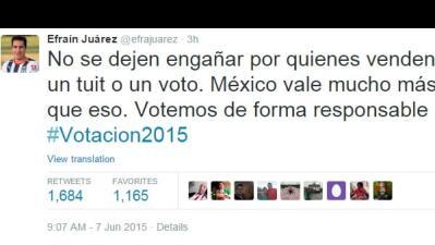 Tweet Efraín Juárez