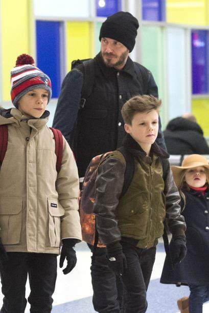 Todos los chicos Beckham se desviven por cuidarla y mimarla.