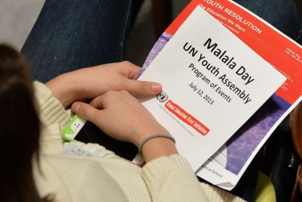 """La joven paquistaní aseguró que """"hoy no es el día de Malala, sino el día..."""