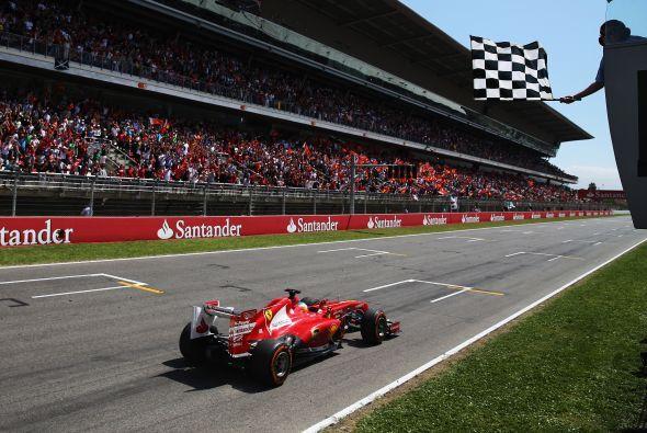 El Ferrari, a pesar del escepticismo que desprendió Alonso en la jornada...