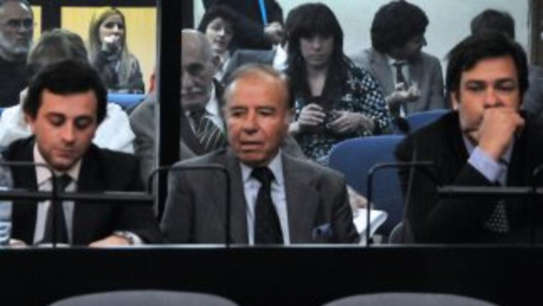 El ex presidente argentino Carlos Menem fue absuelto de la venta de arma...