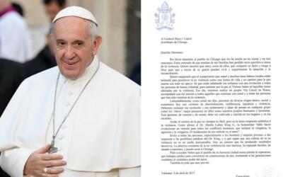 Papa Francisco manda una carta a las víctimas de la violencia en...