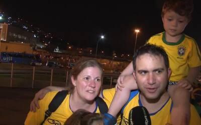 La afición de Brasil festejó su primer oro de fútbol masculino en Juegos...