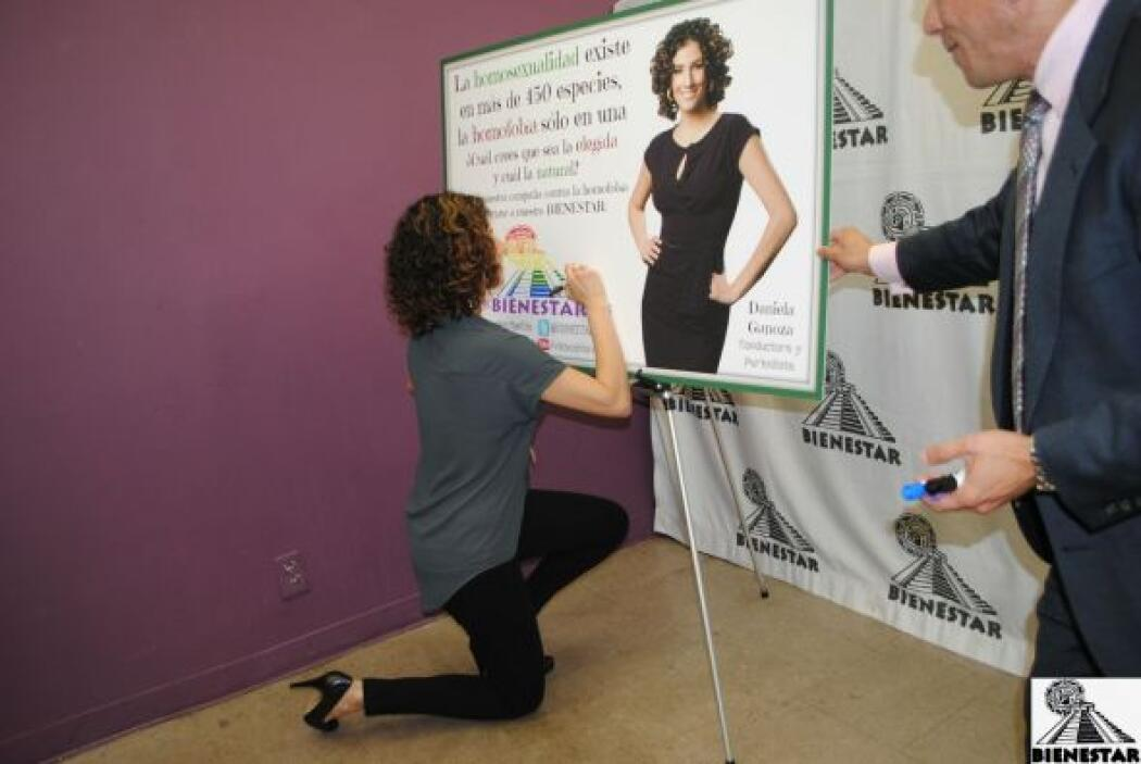 Daniela Ganoza lucha contra la homofobia uniéndose a la campaña de Biene...