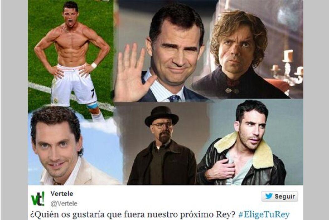 Este collage fue publicado bajo el hashtag #EligeTuRey. (Imagen tomada d...