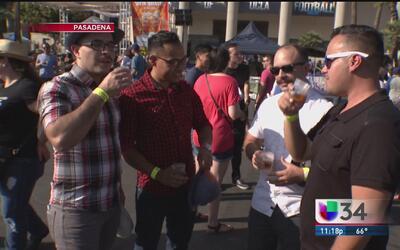 Celebran el festival de la cerveza en Pasadena