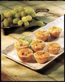 MINI-QUICHES: ¡Prepara bocadillos de quiche con gran sabor! Sírvelos en...