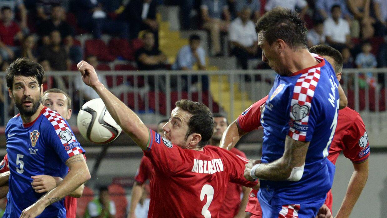 Mario Mandzukic se perdió la llegada más clara de Croacia cerca del final.