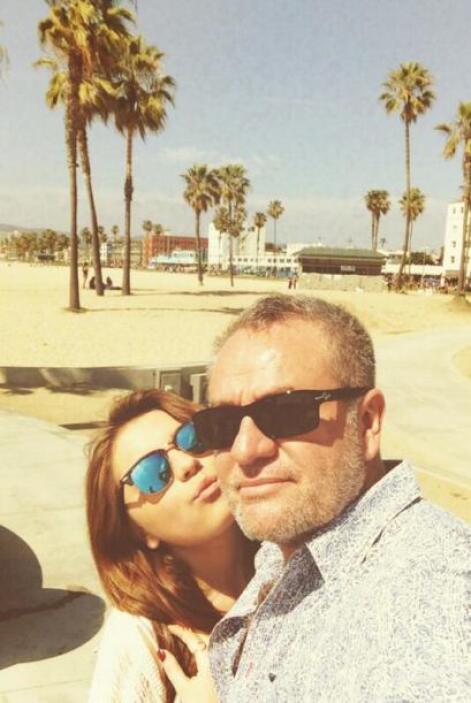 El productor se lo pasó de lo lindo en Hollywood junto a su hija Sofía C...
