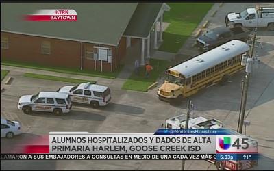 Niños expuestos a gas pimienta en autobus