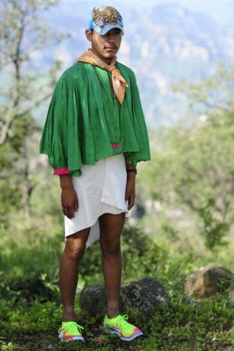 Los indígenas mexicanos Rarámuris dan imagen a la línea Free Flyknit de...