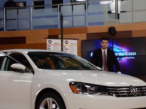 Los chicos recibieron un buzón en el que Volkswagen Passat le dio...