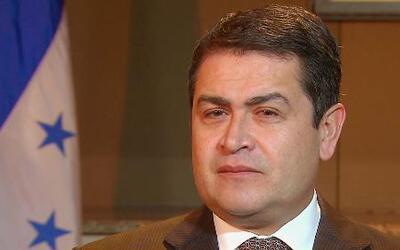 El Presidente de Honduras habló sobre los niños cruzando la frontera