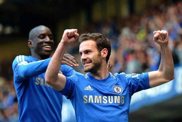 Juan Mata fue el encargado de lograr el 1-0 para los locales.