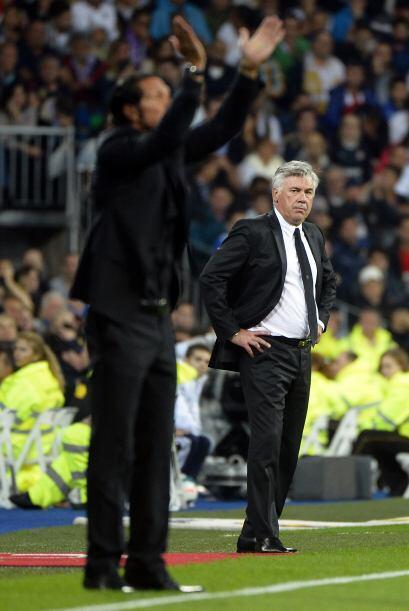 Simeone le ganó el juego stratégico a Ancelotti.