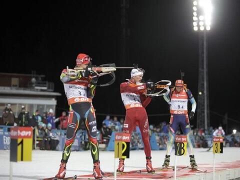 La checa Ondrej Moravec, la noruega Tarjei Boe y la ucraniana Andr...