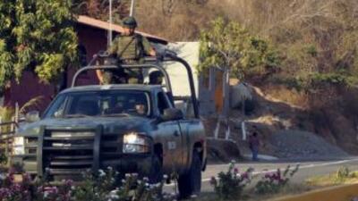 Elementos del Ejército mexicano desplegados en Michoacán.