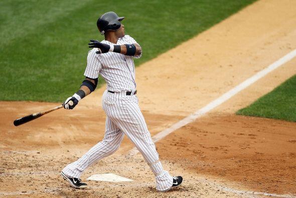 2B. Robinson Canó. Yankees de Nueva York. El dominicano bateó para un pr...