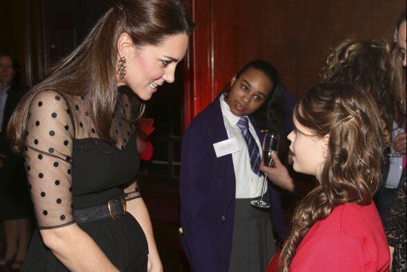 Kate y su bebé se convirtieron en el centro de todas las miradas.