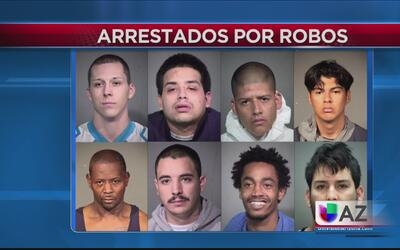 Bajo arresto ocho personas por delito de robo