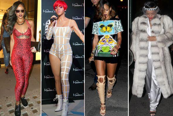 ¡Rihanna se la vive en un eterno 'cosplay'! Estos son los 'looks'...