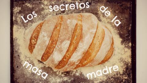 Pan artesanal hecho con masa madre.