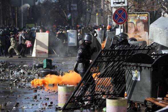 El presidente ucraniano señaló que los opositores enfrenta...