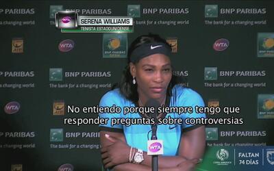 """Serena Williams: """"No creo que ninguna mujer deba arrodillarse, erróneas..."""