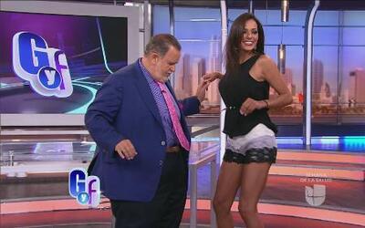 ¡Wepa! Nathalia Casco le enseñó a Raúl a bailar 'punta'