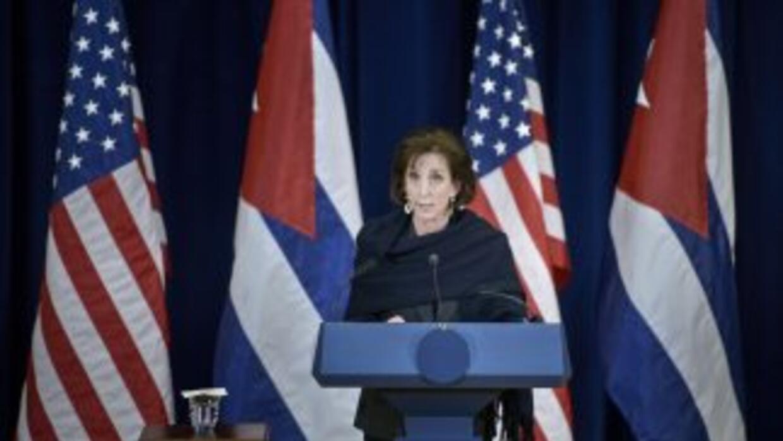 Roberta Jacobson, durante la segunda ronda de negociaciones con Cuba.